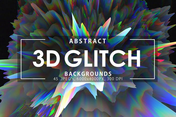 Thumbnail for 3D Glitch Backgrounds