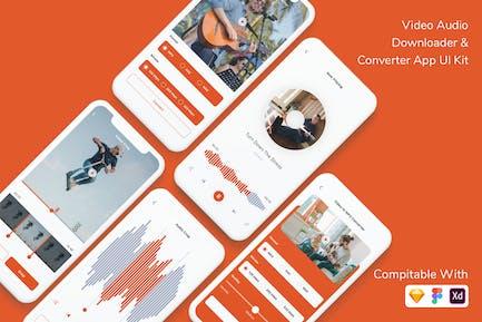 Video Audio Downloader & Converter App UI Kit