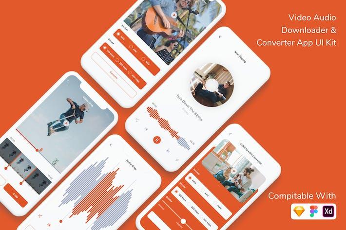 Thumbnail for Video Audio Downloader & Converter App UI Kit