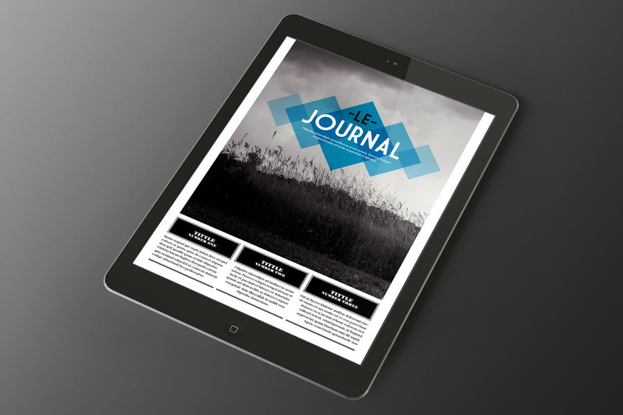 Le Journal Tablet Magazine Indesign Template
