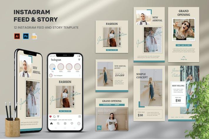 Jasmine - Instagram Feeds & Stories Pack