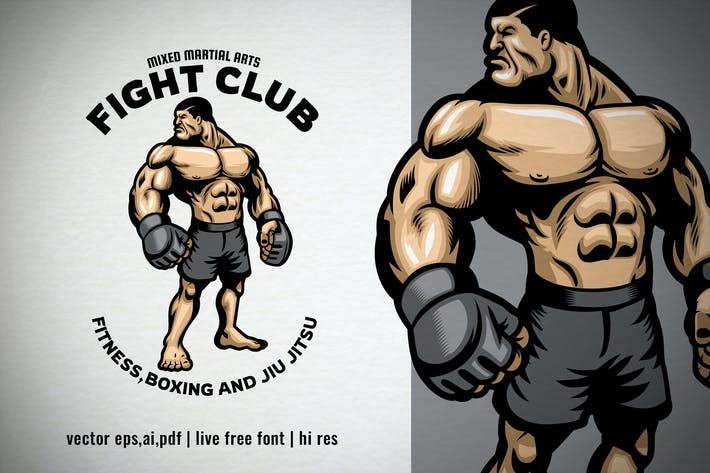Thumbnail for Muscle Fighter MMA Fight Club Logo