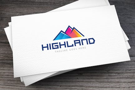 Highland Colors Logo Template