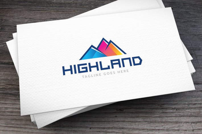 Thumbnail for Highland Colors Logo Template