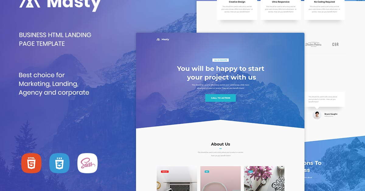 Download Masty - Business HTML Landing Page Template by htmlbeans