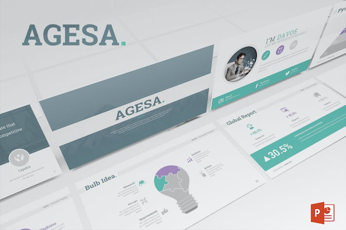 Thumbnail for Agesa Powerpoint Template