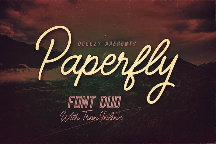 Thumbnail for Paperfly Font Duo