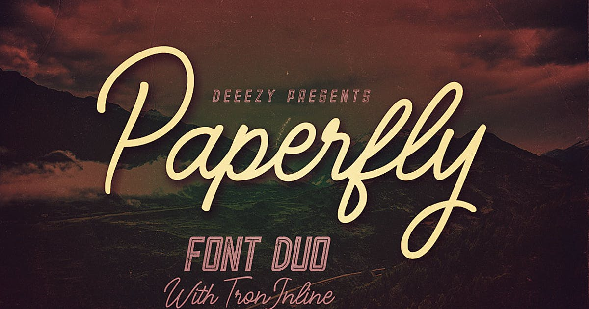 Paperfly Font Duo by cruzine