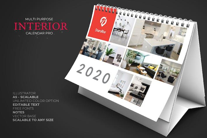 2020 Möbel/Innenraum Kalender Schreibtisch Pro