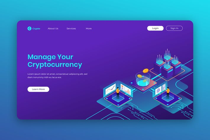Thumbnail for Isometric Landing Page