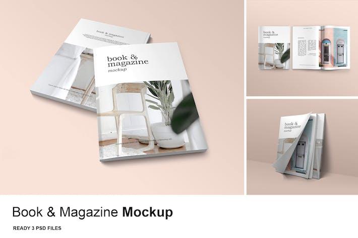 3 Psd Book & Magazine - Mockup Vol. 3