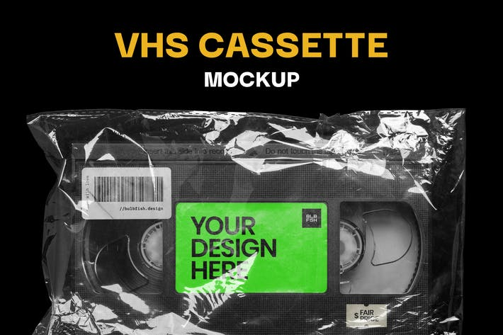 Cover Image For Video Cassette Mockup