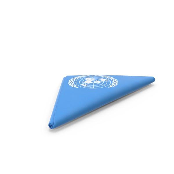 Flag Folded Triangle UN