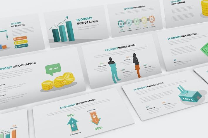 Thumbnail for Economy Infographic Google Slides Template