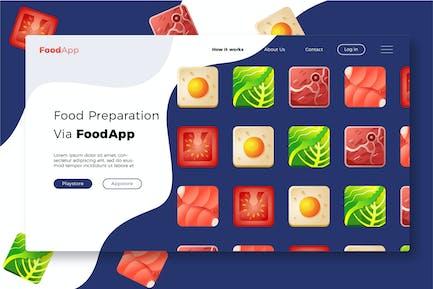 Foodapp - Banner & Landing Page
