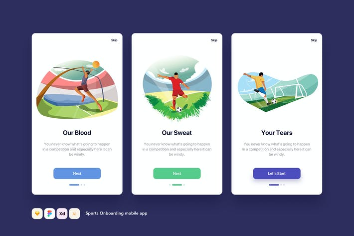 Thumbnail for Sport Onboarding mobile app