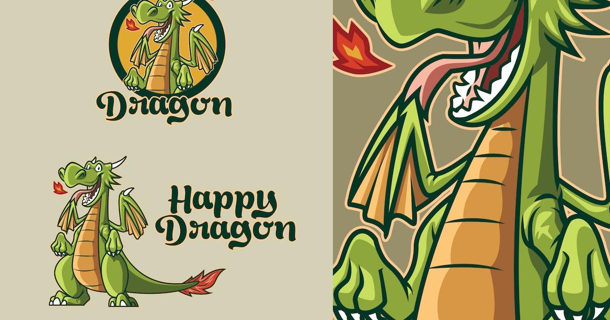 Download Retro Cartoon Dragon Mascot Logo by Suhandi