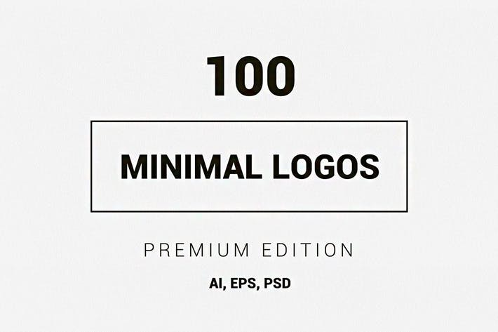 Thumbnail for 100 Minimal Logos - Premium Edition