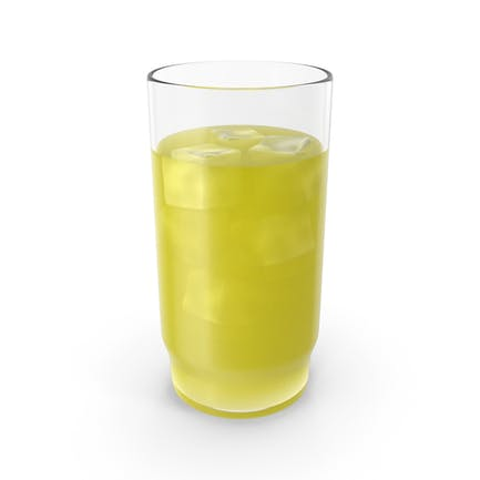 Glass With Cold Yellow Juice