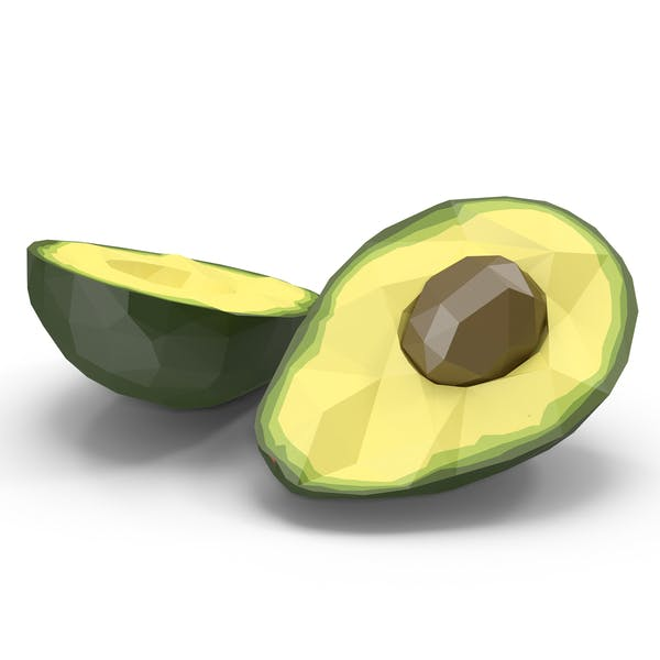 Cover Image for Low Poly Split Avocado