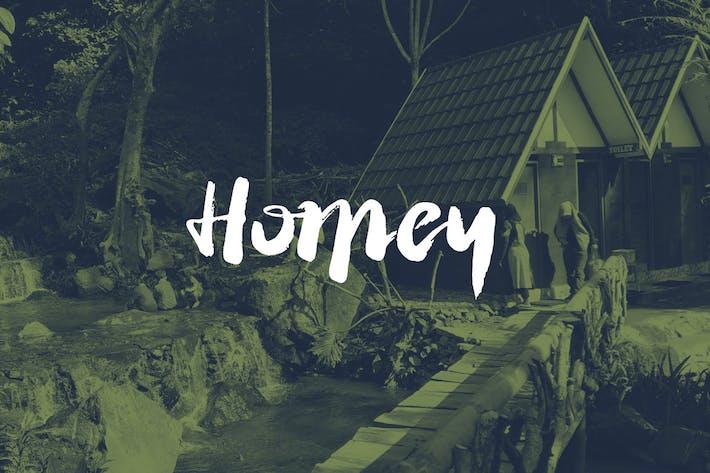 Homey Cursive Brush Font