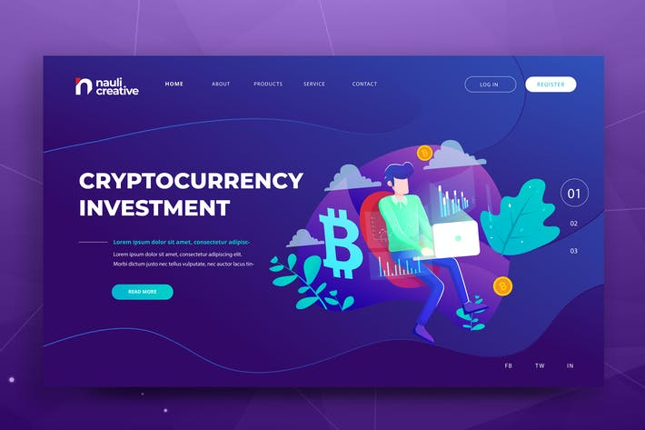 Thumbnail for Cryptocurrency Web PSD and AI Vector Template