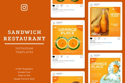 Plantilla de Instagram de Orange Place Store