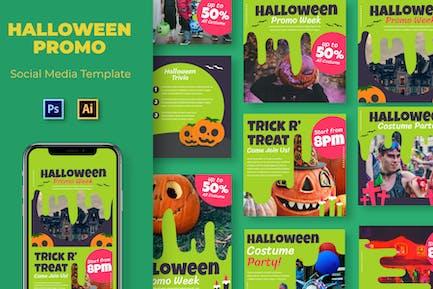 Costume Halloween Social Media