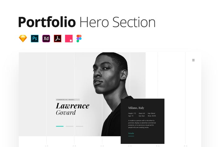 Fashion Portfolio – Multi-format Hero Section