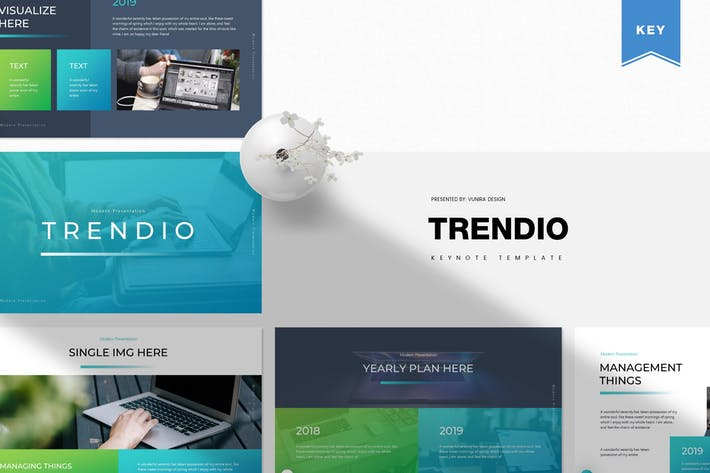 Thumbnail for Trendio | Keynote Template