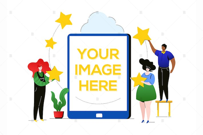 Thumbnail for Company rating - flat design style illustration