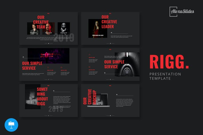 Cover Image For Rigg - Keynote Presentation Template