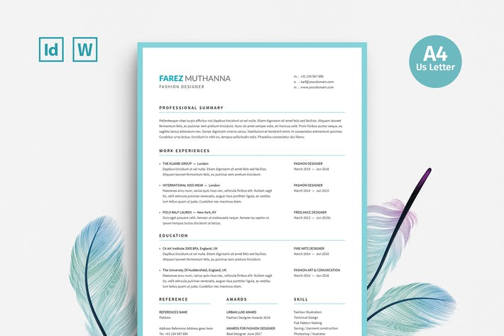 Resume By Leaflove On Envato Elements