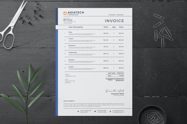 Invoice - product preview 0