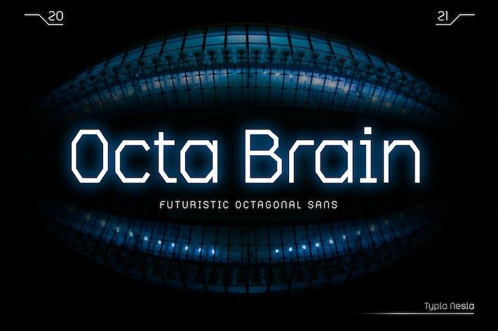 Octa Brain - Futuristic Octagonal Sans Serif