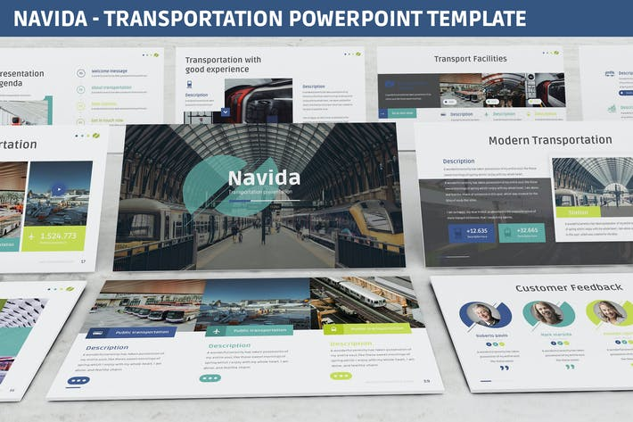 Thumbnail for Navida - Transportation Powerpoint Template