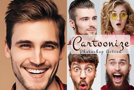 Cartoonize Action Photoshop