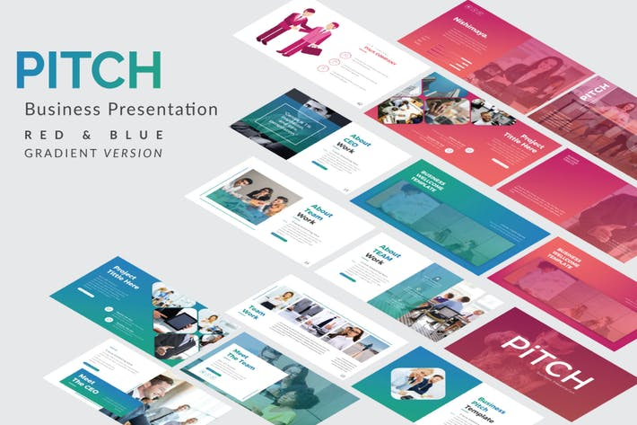 Thumbnail for Pitch Business Powerpoint Template