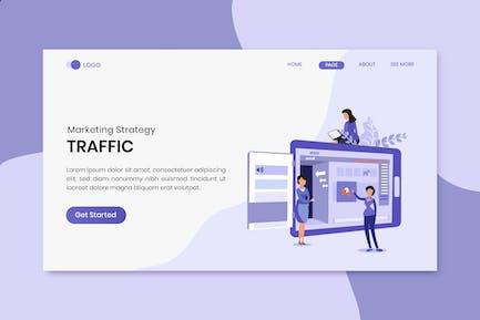 Traffic Marketing Strategy Landing Page
