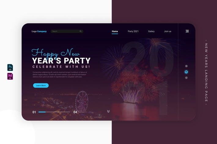 New Years Fireworkiys | Landing Page