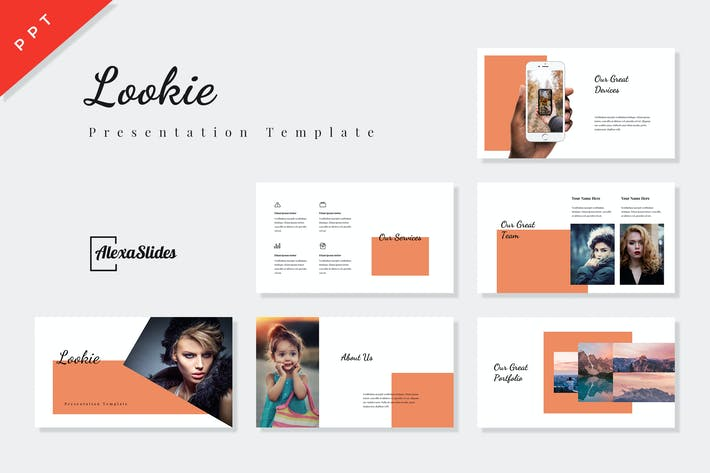 Thumbnail for Lookie - Fashion Powerpoint Presentation Template