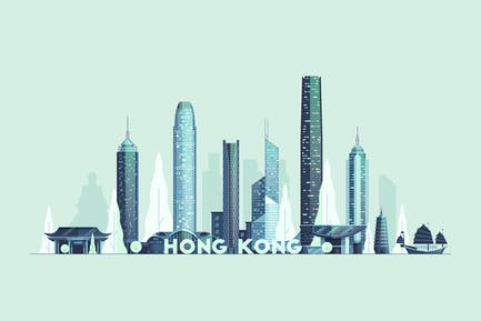 Hong Kong skyline, People's Republic of China