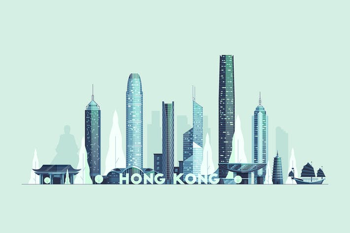 Thumbnail for Hong Kong skyline, People's Republic of China