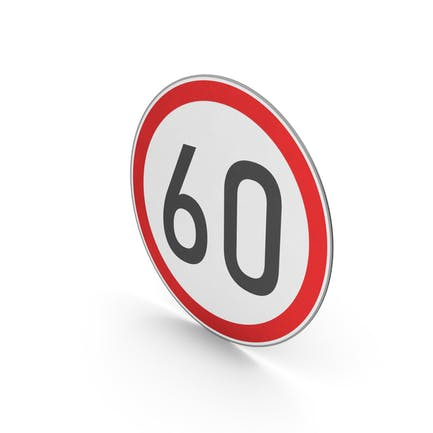 Road Sign Speed Limit 60