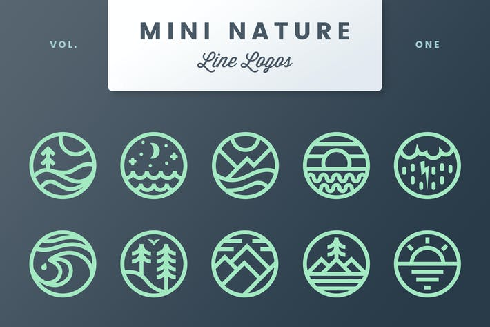 Thumbnail for Mini Nature Line Logos - Volume 1