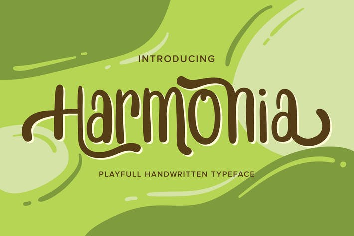 Thumbnail for Harmonia | Playfull Handwritten Typeface