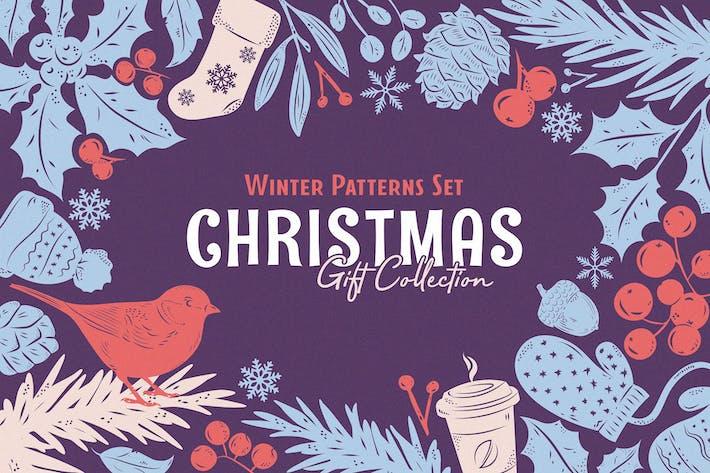 Thumbnail for Christmas Gift: Vector Patterns Set