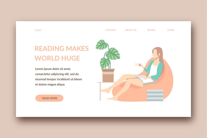 reading landing page template