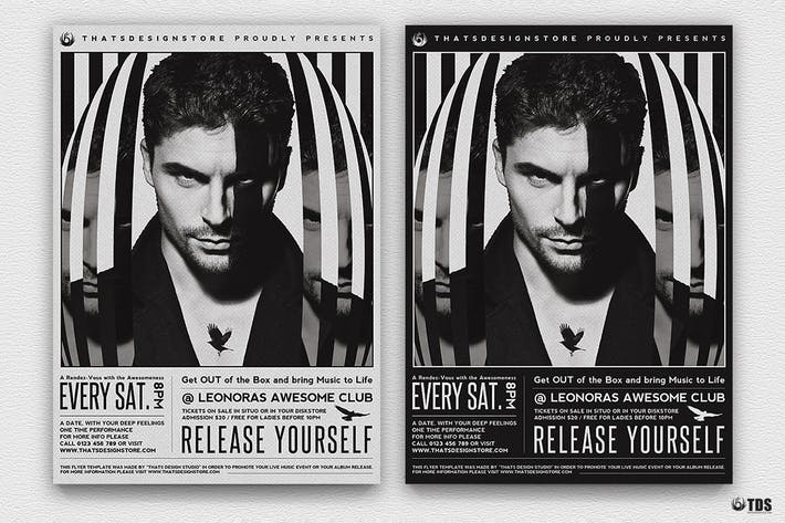 Thumbnail for Release Yourself Flyer Template