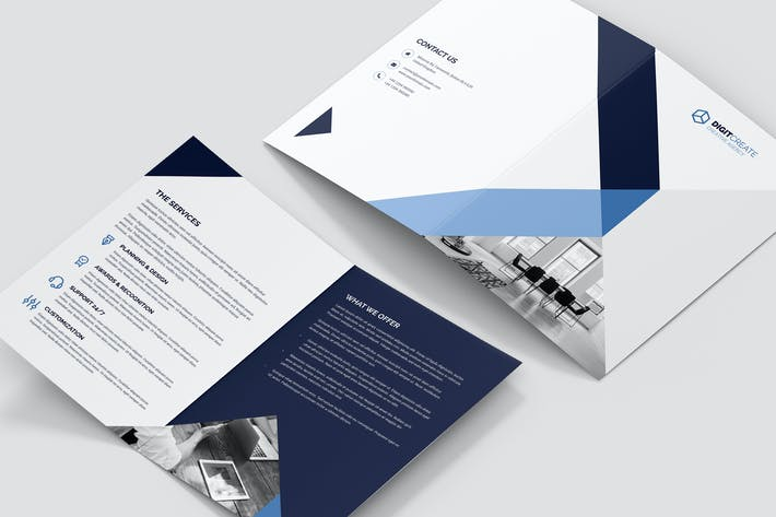 Thumbnail for Brochure – Digital Agency Bi-Fold